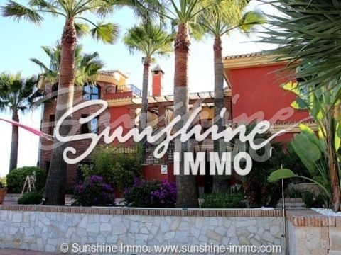 Dream Villa located in Coín on a 7000 m2 plot, built 580m2, 800 m2 fenced. Avocado plantation.