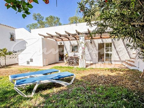 Unique Investment Opportunity: Bungalow 131m2, 4 bedrooms in a plot of 359m2, 100m2 terrace in Elviria Beachside, Marbella. 2 minutes walk to the beach.