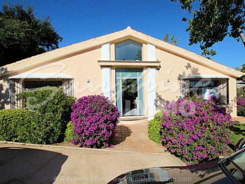 Nordic Style Villa of Three Bedrooms Built in One Level in Santa Maria Golf Club, Elviria, Marbella.