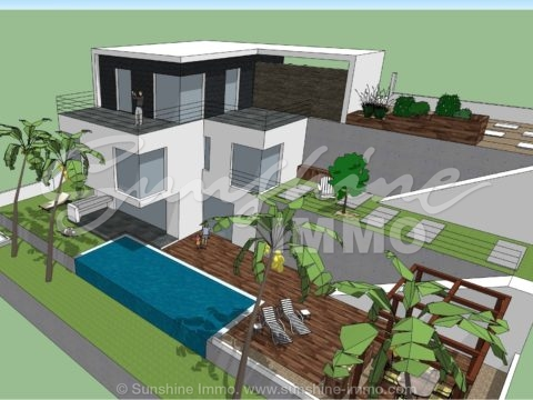 New construction Villa in Urb. Sierra Gorda. Three Floors, Overflowing Pool, Panoramic Views of the Guadalhorce Valley, South Orientation.