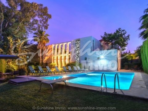 Luxurious modern villa with contemporary architecture In the sought after area of Las Brisas, Nueva Andalucia, just a short drive from Puerto Banus