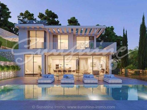 Impresionante villa moderna, con espectaculares aspectos destacados que ofrecen todas las necesidades para el confort del hogar.